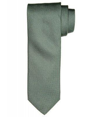 Profuomo Profuomo heren groen oxford zijden stropdas