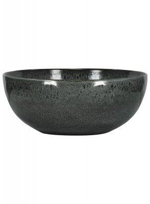 HEMA HEMA Schaal - 26 Cm - Porto - Reactief Glazuur - Zwart (zwart)