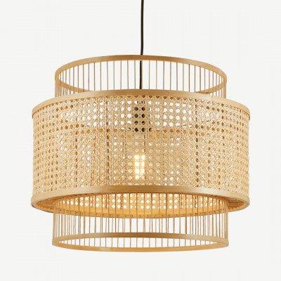 MADE.COM Yen extra grote hanglampenkap, bamboe