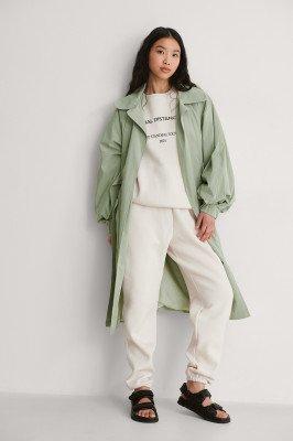 Trendyol Trendyol Wijde Mouw Trenchcoat - Green