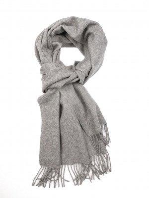 Profuomo Profuomo heren grijze oversized wollen sjaal