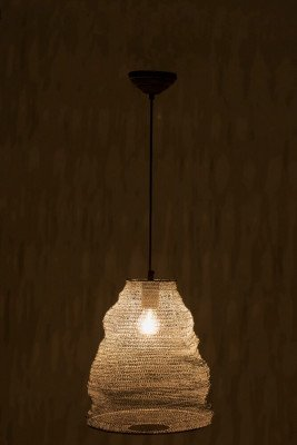 J-Line J-Line Hanglamp 'Gommaar' Small, kleur Grijs, Ø30cm