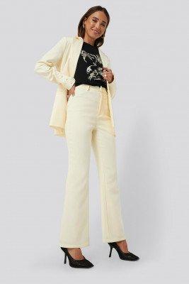 Erica Kvam x NA-KD Erica Kvam x NA-KD Highwaisted Suit Pants - Yellow