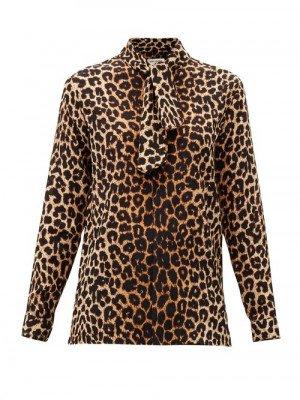 Matchesfashion Saint Laurent - Leopard-print Silk-crepe Blouse - Womens - Leopard