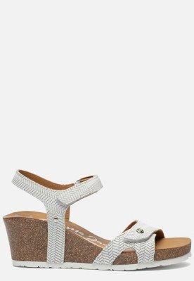 Panama Jack Panama Jack Julia Menorca B5 sandalen met sleehak wit