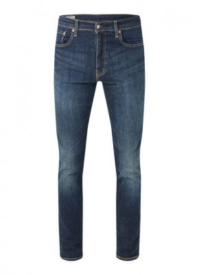 Levi's Levi's 512 tapered fit jeans met stretch en donkere wassing