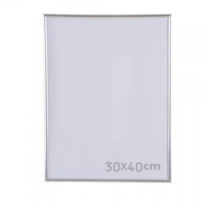 Xenos Fotolijst kunststof - 30x40 cm - zilverkleurig
