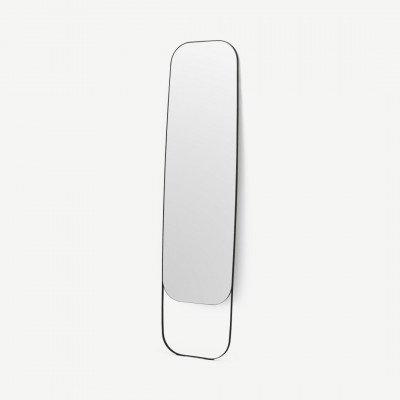 MADE.COM Emmerson staande spiegel, 45 x 177 cm, matzwart