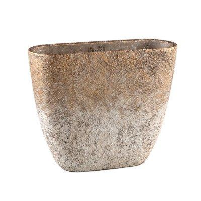 Ptmd jae goud cement ruige pot ovaal l