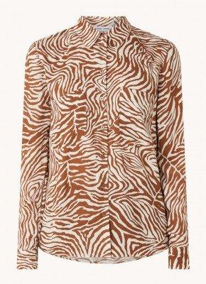 Samsøe en Samsøe Samsøe & Samsøe Milly blouse met tijgerprint