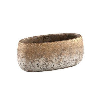 Firawonen.nl Ptmd jae goud cement ruige pot ovaal s