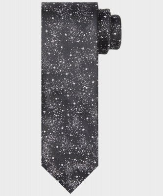 Michaelis Michaelis heren sterrenprint stropdas zwart