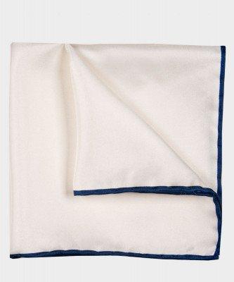 Michaelis Michaelis heren geprint zijden pochet wit