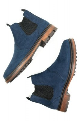 Will's Vegan Store Will's Vegan Store unisex vegan Chelsea Boots Continental Donkerblauw Donkerblauw 42 Microfibre (micronappa, microsuède)/PU/Rubber