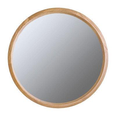 Spiegel rond met houten lijst - naturel - ø76 cm