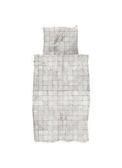 Snurk Snurk Tiles Pearl White biologisch katoenen dekbedovertrekset 160TC - inclusief kussenslopen
