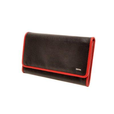 Berba Berba Dames Portemonnee Soft 001-403 Black Red