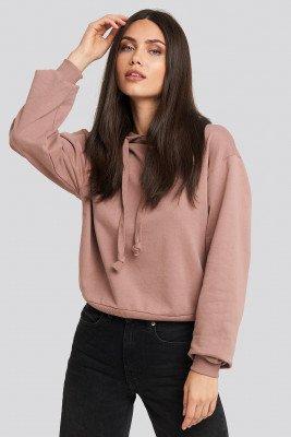 NA-KD Basic Basic Hoodie - Pink