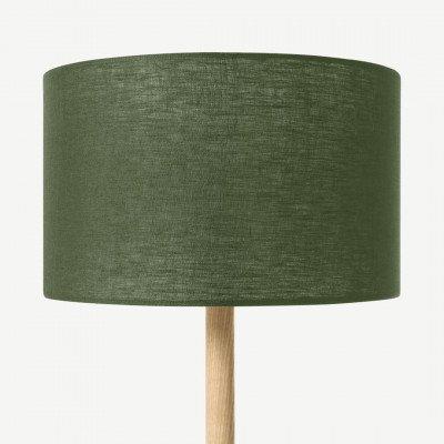 MADE.COM Brisa lampenkap van 100% linnen, 30 cm, mosgroen