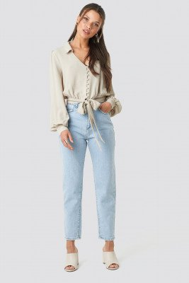 Trendyol Trendyol High Waist Light Mom Jeans - Blue
