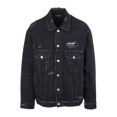 Balenciaga Barcode Oversize Denim Jacket