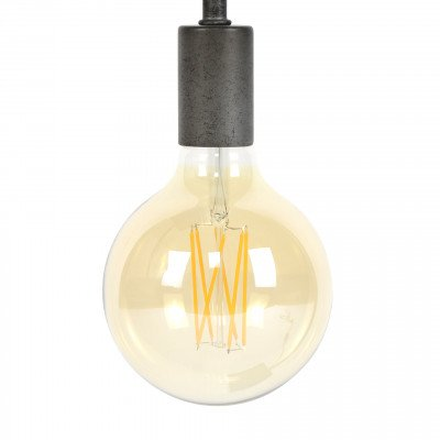 LifestyleFurn Kooldraadlamp 'Bol XL' Ø12,5cm E27 LED 6W goldline, dimbaar