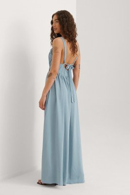 Curated Styles Curated Styles Maxi-Jurk - Blue