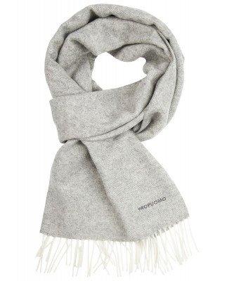Profuomo Profuomo heren grijze lamswollen sjaal