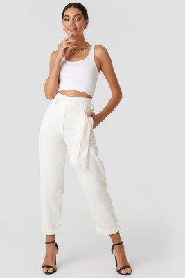 Hoss x NA-KD Baggy Pants - White