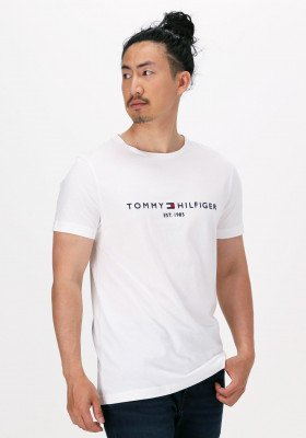 Tommy Hilfiger Witte Tommy Hilfiger T-shirt Core Tommy Logo Tee