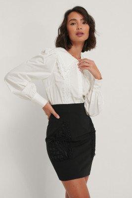 NA-KD Trend NA-KD Trend Kanten Shirt - White