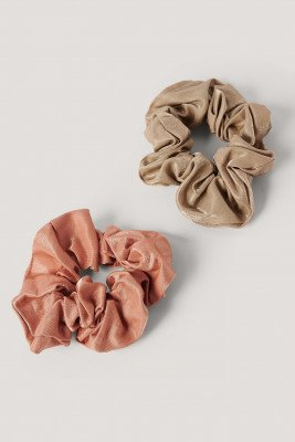 NA-KD Accessories NA-KD Accessories Double Pack Dull Satin Scrunchies - Multicolor