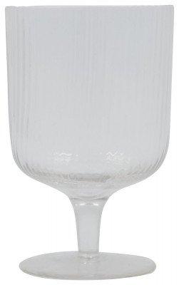 HEMA HEMA Wijnglas Bergen Streep Reliëf 250ml