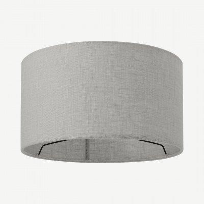 MADE.COM Porto lampenkap van linnen, 30 x 16cm, grijs