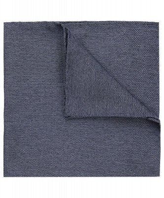 Profuomo Profuomo heren blauw zijde pocket square