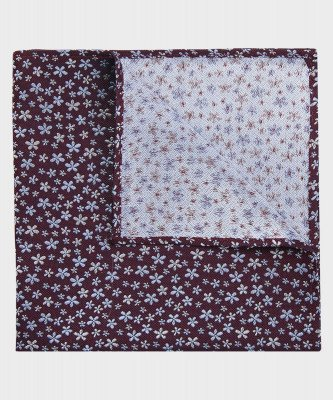 Michaelis Michaelis heren bloemenprint pochet rood