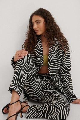 NA-KD Trend NA-KD Trend Met Zebraprint Blazer - Black