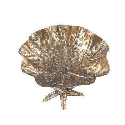 Firawonen.nl PTMD Duck Gold metalen schaal op voet rond