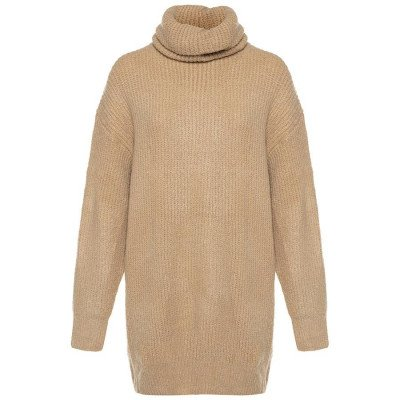 ComegetFashion KNITTED SWEATERDRESS COL BEIGE