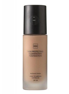 HEMA Skin Protecting Illuminating Foundation Rose 04 (bruin)