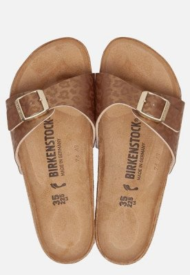 Birkenstock Birkenstock Madrid Leopard slippers goud