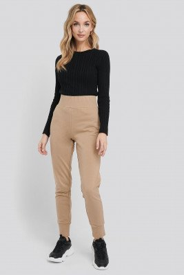 NA-KD Basic Basic Joggers - Brown