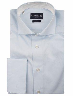 Cavallaro Napoli Cavallaro Napoli Heren Overhemd - Men Overhemd Striped - Wit