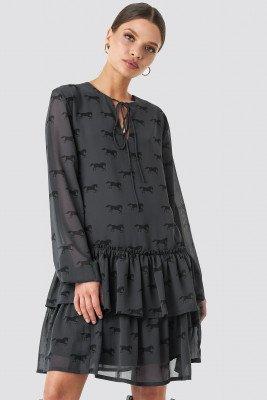 NA-KD Trend NA-KD Trend Giddy Up Printed Short Dress - Black