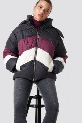 NA-KD NA-KD Block Padded Jacket - Black,Multicolor