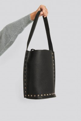NA-KD Accessories Studded Shopper - Black