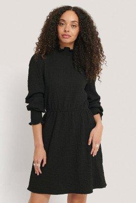 NA-KD Boho NA-KD Boho Structured Smock Detail Dress - Black