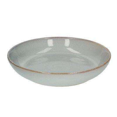 DilleenKamille Bord diep reactieve glazuur, steengoed, grijs,Ø 22 cm