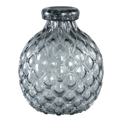 Firawonen.nl Hugh grey glass vase belly narrow border s