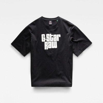 G-Star RAW Unisex Radio Boxy T-Shirt - Zwart - Heren